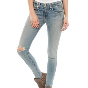 rag & bone Skinny Jean Distressed in Water St Wash